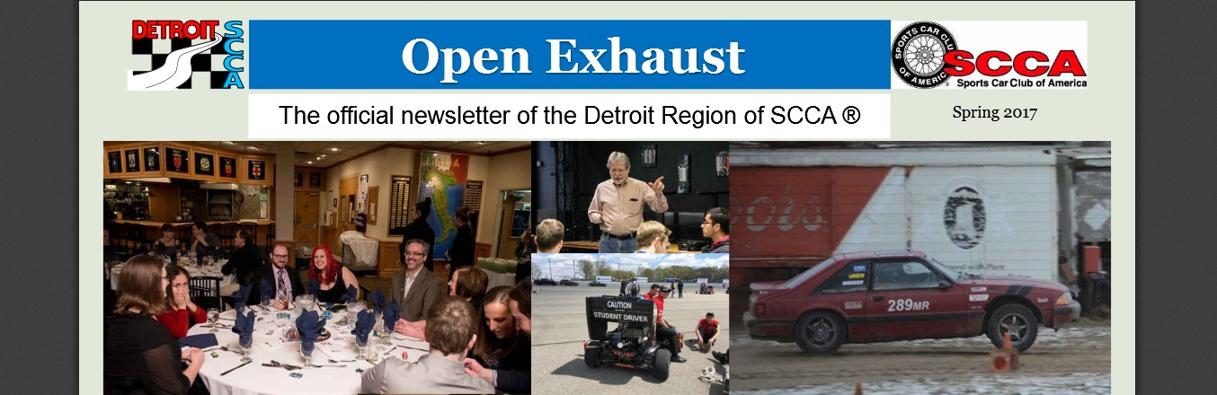 Spring 2017 Open Exhaust Newsletter